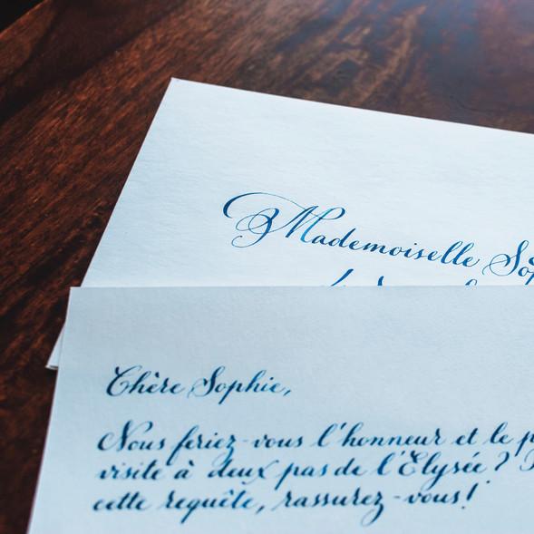 Lettre manuscrite (collab Micky Paris & Daniel Levy Chemisier)