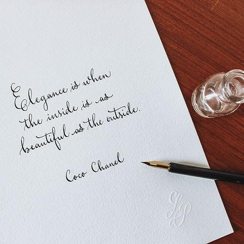 Elegance by Chanel