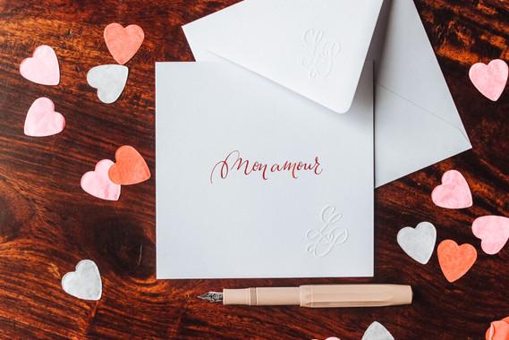 Carte Mon amour rouge