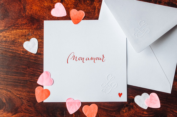 Carte Mon amour coeur rouge