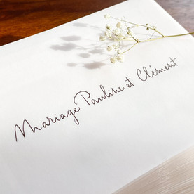 Calligraphie mariage