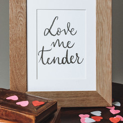 Affiche Love me tender