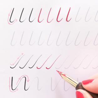 Niveau 1 : connaître les traits de base pour débuter la calligraphie à la plume
