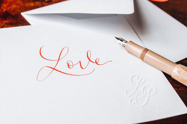 Carte Love rouge