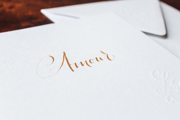 Carte Amour doré