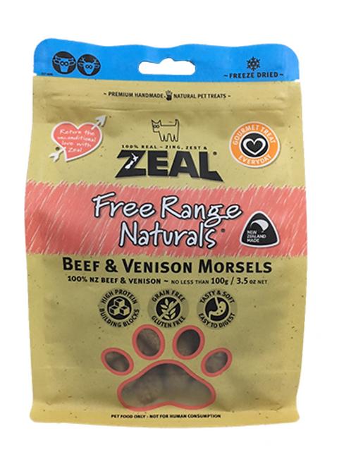 Zeal 紐西蘭天然冷凍脫水牛+鹿肉 100g