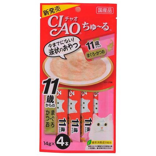CIAO 11歲老貓 吞拿魚+鰹魚醬(14g x4)