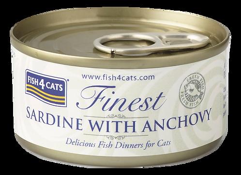 FISH4CATS FINEST 沙甸魚&鳳尾魚 70g