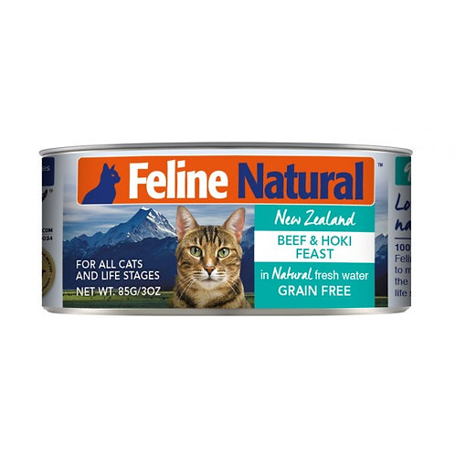 Feline Natural 牛肉及藍尖尾鱈魚 85g/170g