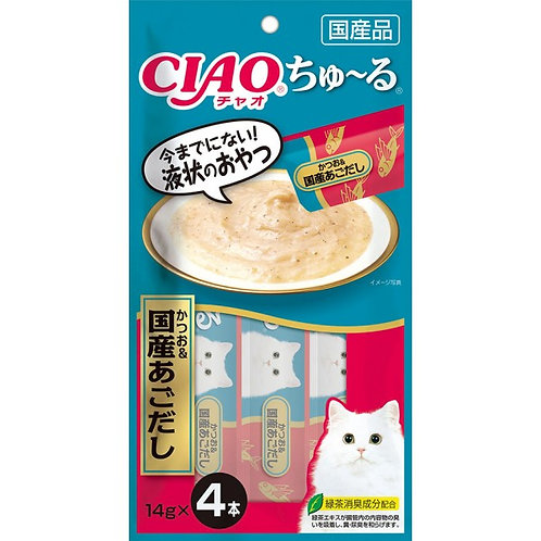 CIAO 吞拿魚&國產飛魚醬(14g x4)