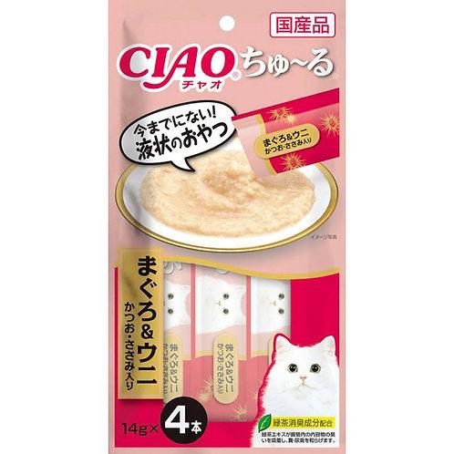 CIAO 吞拿魚&海膽 鰹魚+雞肉(14g x4)
