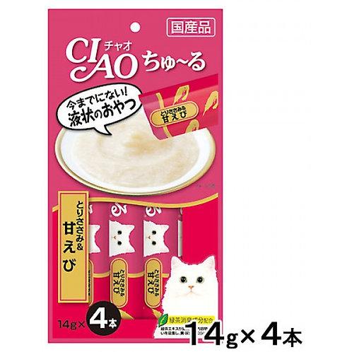 CIAO 雞肉+甜蝦醬(14g x4)