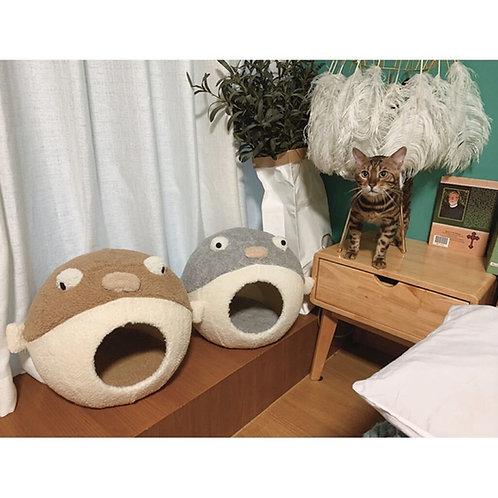 超低能勁搞笑 雞泡魚造型貓屋