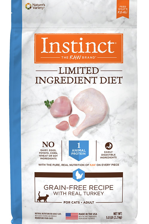 Instinct LID 本能 單一低敏 無穀物 火雞 貓糧配方 5lb /11lb