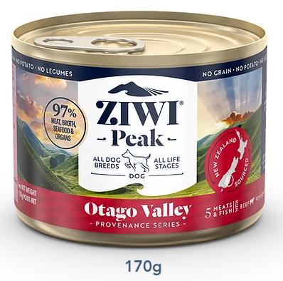 ZIWI Peak 無穀物 奧塔哥山谷配方 狗罐頭 170g