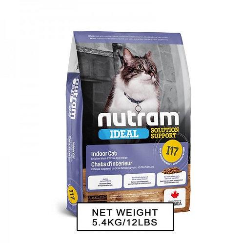 NUTRAM紐頓NT-I17 室內控制掉毛配方貓糧 1.13kg/5.4kg