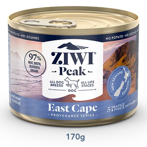 ZIWI Peak 無穀物 東角配方 狗罐頭 170g