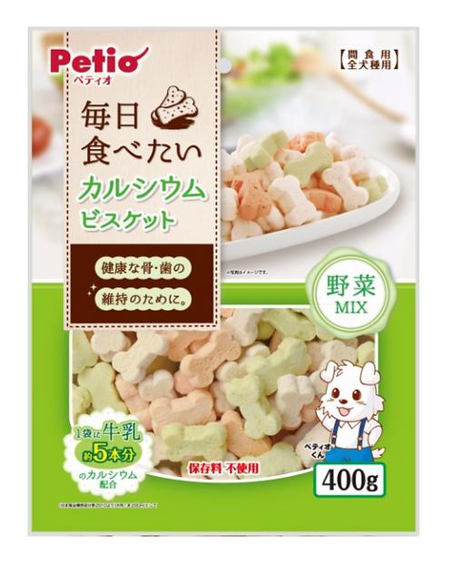 日本 高鈣骨頭型混合蔬菜味餅乾 全犬種 400g