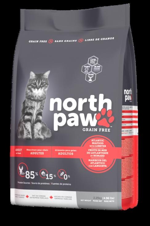 North Paw 無穀物 大西洋海鮮、龍蝦 成貓配方 2.25kg
