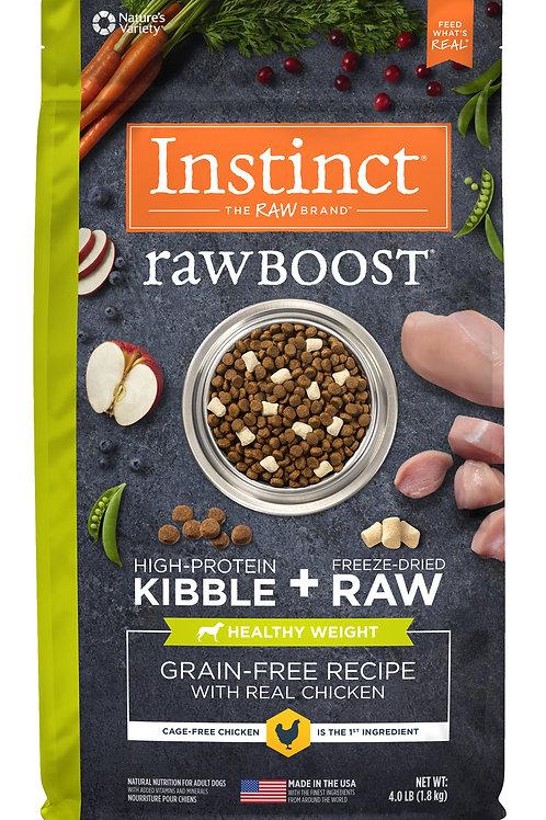 Instinct Raw Boost 本能 無穀物 雞肉 健康體重 狗糧配方 4lb