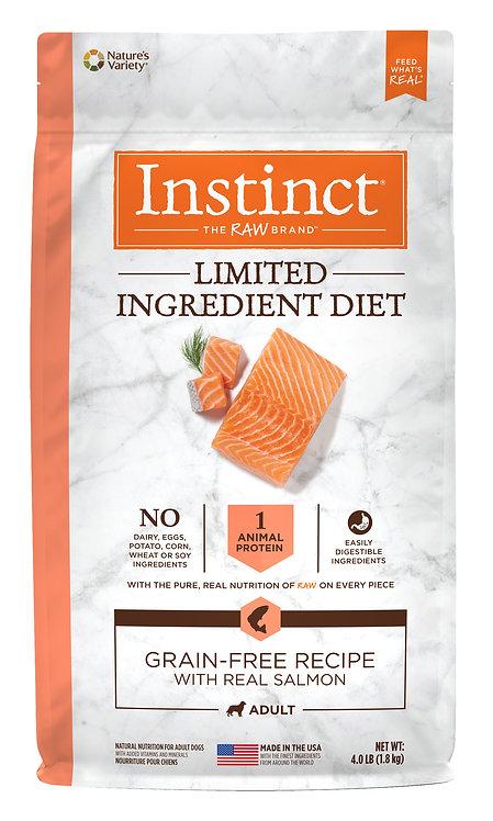 Instinct LID 本能 單一低敏 無穀物 三文魚 狗糧配方 4lb