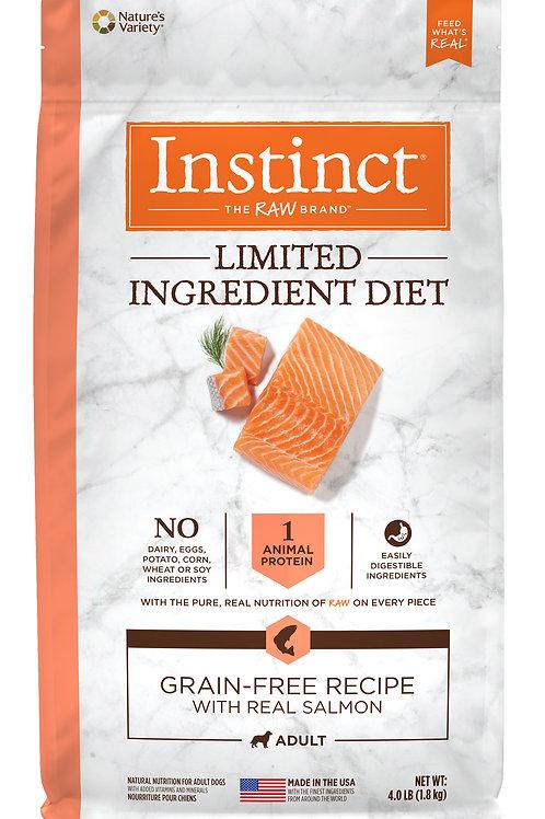 Instinct LID 本能 單一低敏 無穀物 三文魚 狗糧配方 20lb