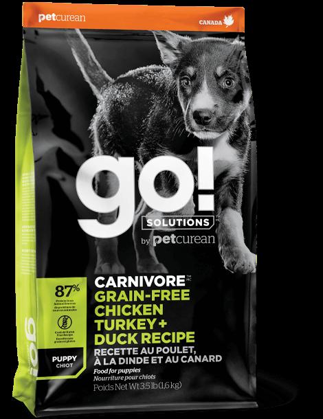 GO! SOLUTIONS 活力營養系列 無穀物雞肉+火雞+鴨肉幼齡犬狗糧配方 3.5lb