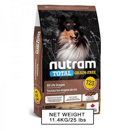 NUTRAM紐頓 NT-T23 無薯無穀全犬糧 (雞+火雞) 中型犬 2kg/11.4kg