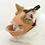 Thumbnail: 日本 OPPO 貓用面罩式鴨嘴口罩 深粉/ 淺啡色 S