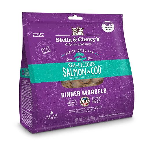 美國 海洋伴侶 凍乾生三文魚及鱈魚肉配方 8oz