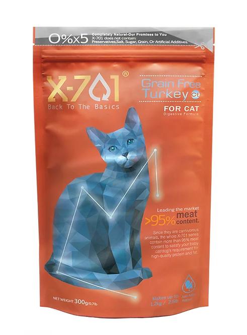 台灣天然凍乾鮮食 腸胃消化護理 無穀火雞肉 全齡貓 300g
