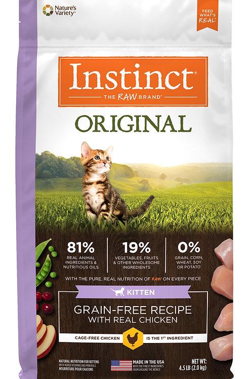 Instinct Original 本能經典 無穀物 雞肉 幼貓配方 4.5lb