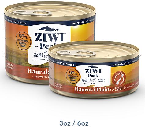 紐西蘭 ZiwiPeak 豪拉基平原配方 貓罐頭 3oz/6oz