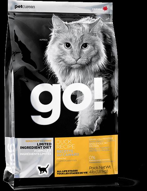 GO! 低敏美毛系列 限定食材 鴨肉貓糧配方 8lb
