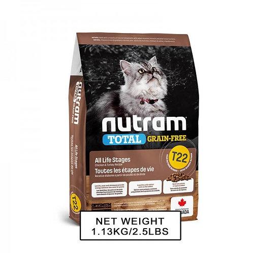 NUTRAM紐頓NT-T22 無薯無穀糧全貓糧 - (雞+火雞) 1.13kg/5.4kg