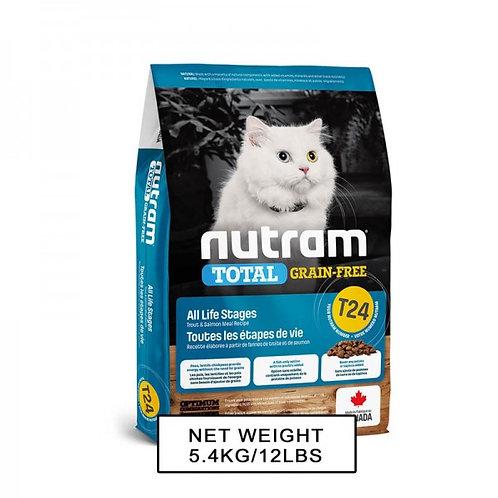 NUTRAM紐頓NT-T24 無薯無穀糧全貓糧 - (三文魚+鱒魚) 1.13kg/5.4kg