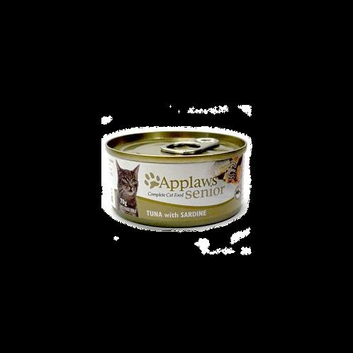 Applaws 天然老貓啫喱罐頭 - 吞拿魚 + 沙甸魚 70g
