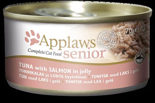 Applaws 天然老貓啫喱罐頭 - 吞拿魚 + 三文魚 70g
