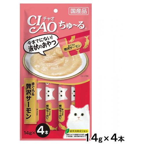 CIAO 吞拿魚+三文魚醬(14g x4)