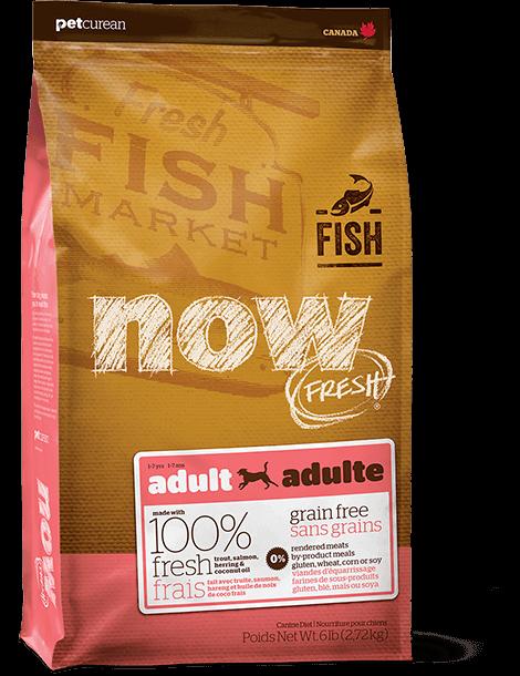 NOW FRESH 無穀物全犬種成年魚肉狗糧配方(鱒魚肉、三文魚肉、希靈魚肉) 6lb