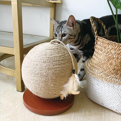 玩極都唔厭! 劍麻貓抓球