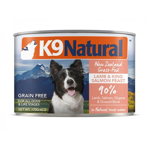 K9 Natural 羊肉及三文魚主食狗罐頭 170g/370g