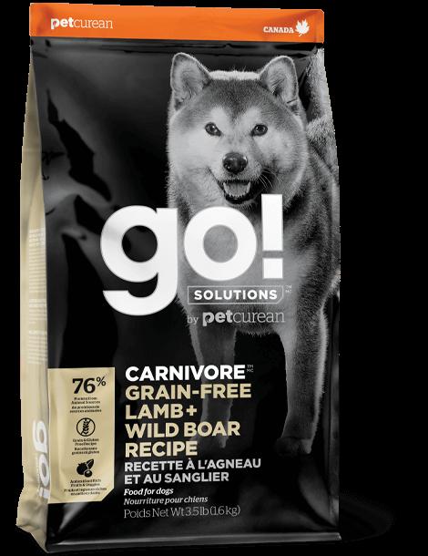 GO! SOLUTIONS 活力營養系列 無穀物羊肉+ 豬肉狗糧配方 12lb
