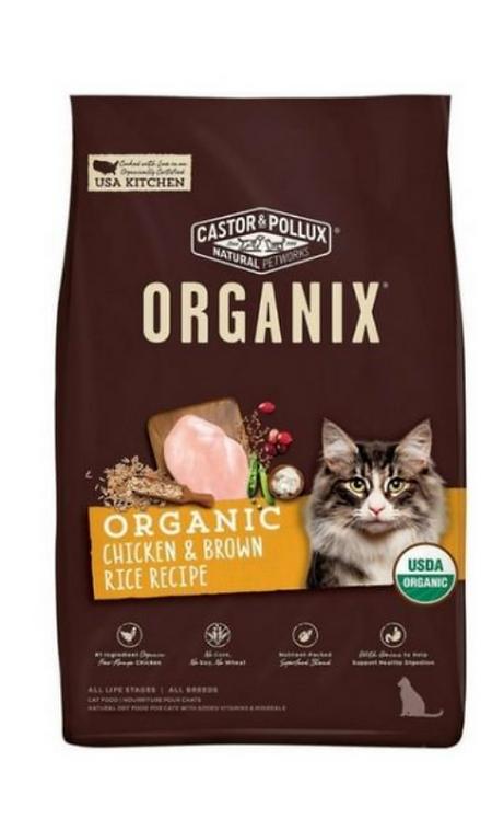 美國 穀物全貓糧 有機雞肉糙米配方 3lb/ 6lb/ 10lb