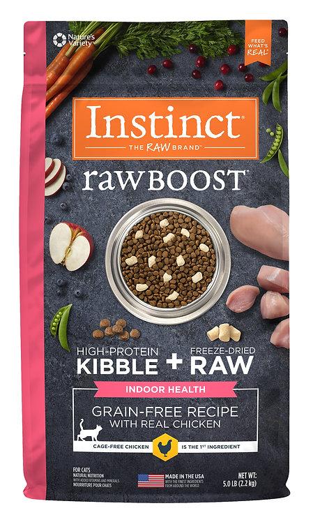 Instinct Raw Boost 本能 無穀物 雞肉 室內健康 貓糧配方 5lb