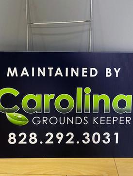 Carolina Ground Keeper Yard Sign