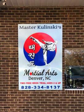 Master Kulinski's Martial Arts Sign