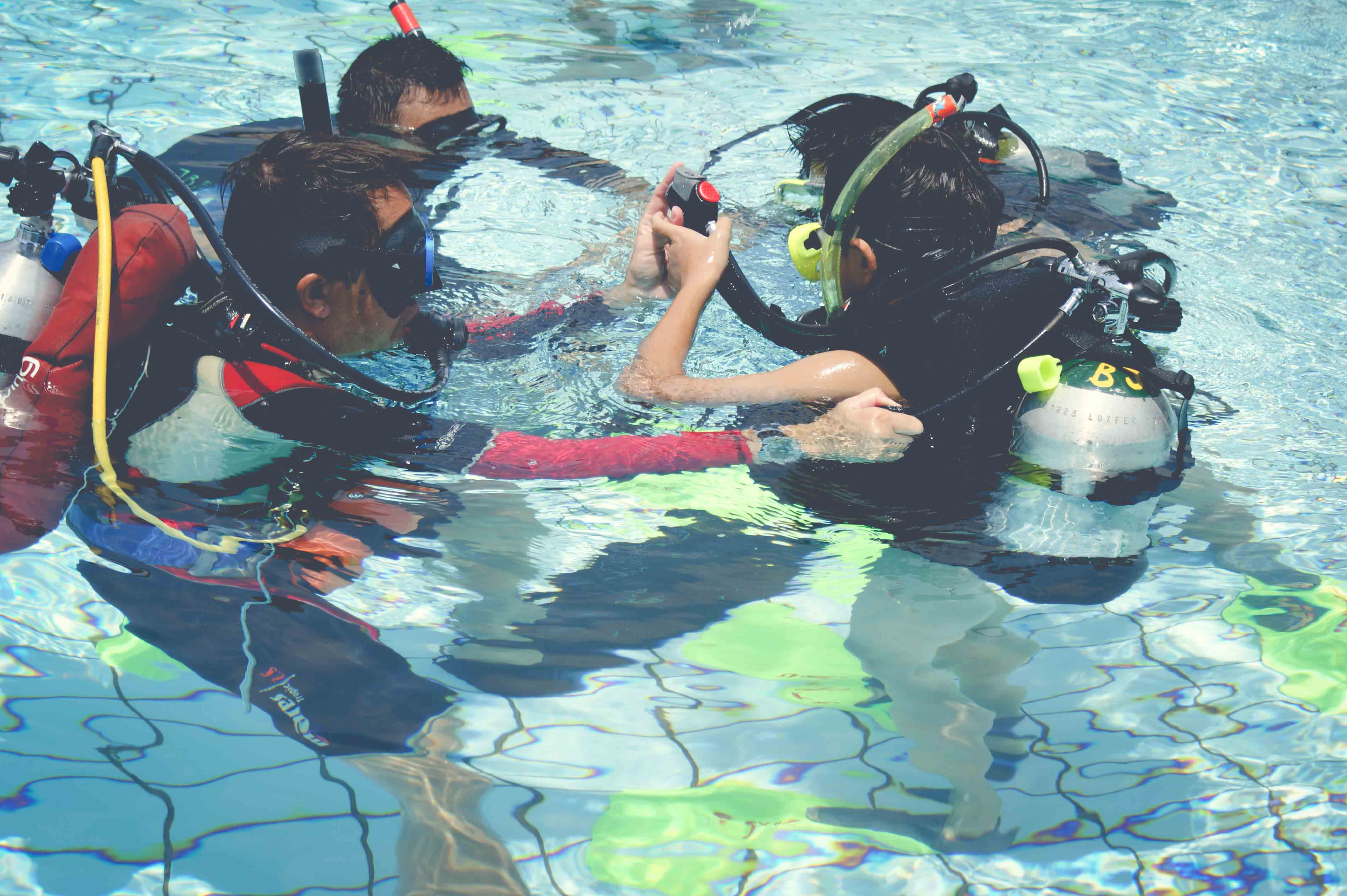 Kids Learning Scuba