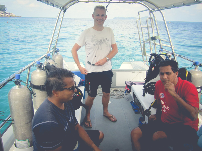 Our Dive Boat Tiger Shark