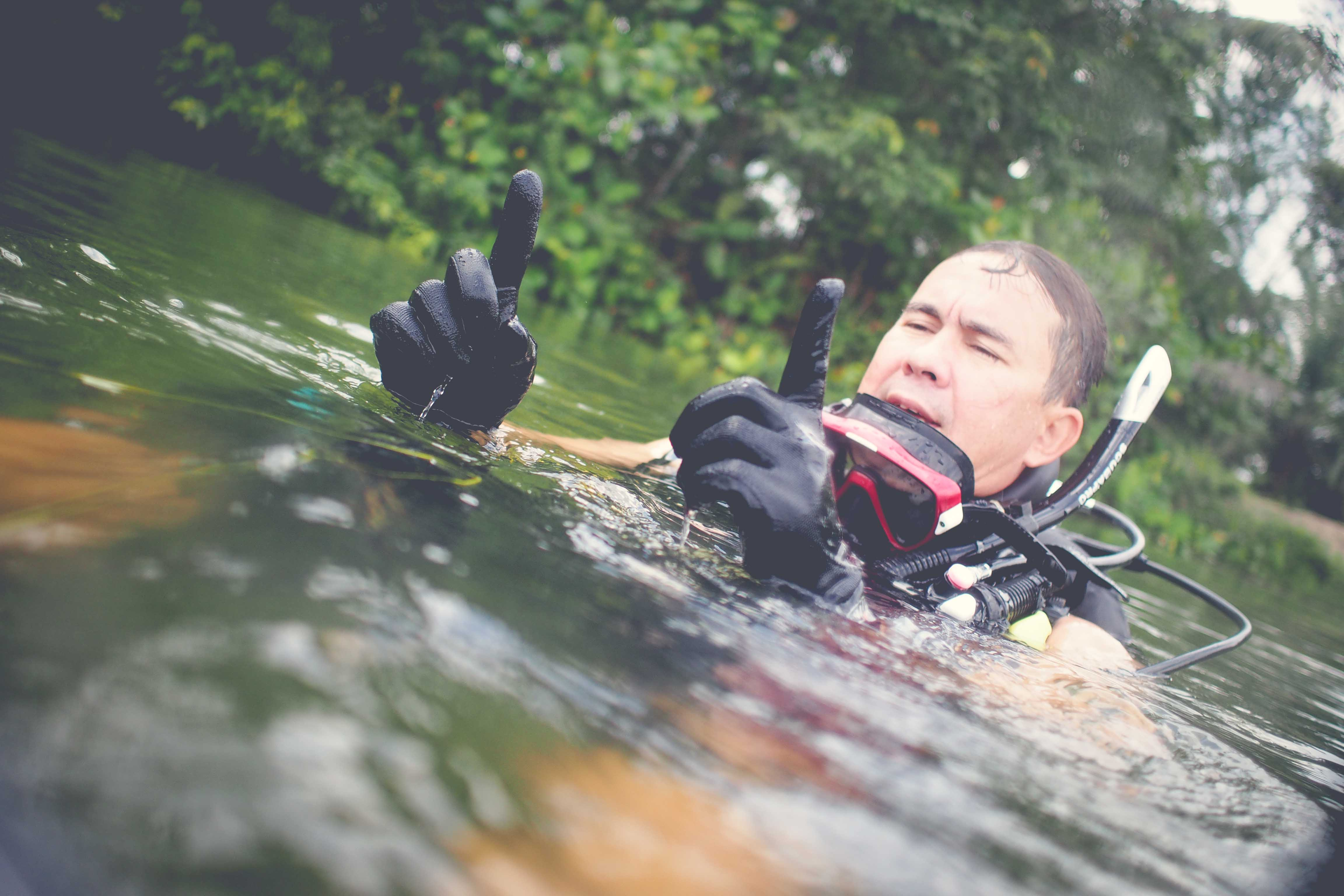 Lake Diving in Johor